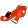2-piece BioThane® G1 Cot Strap with Plastic Side Release Buckle and Metal Loop Ends, 5ft L x 2in W, Orange