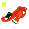 2-piece BioThane® G1 Cot Strap with Plastic Side Release Buckle and Metal Loop Ends, 5ft L x 2in W, Yellow
