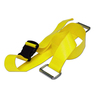 2-piece BioThane® G1 Cot Strap with Plastic Side Release Buckle with Metal Loop Ends, 7ft L x 2in W, Yellow