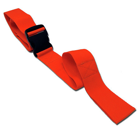 2-piece Disposable Economy Poly Backboard Restraint Strap with Plastic Side Release Buckle and Loop Ends, 7ft L x 2in W