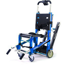 EZ Glide® Stair Chair, Electric Blue, With PowerTraxx™