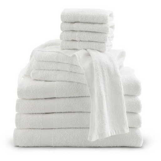 Bath Towel, White, 40in L x 20in W