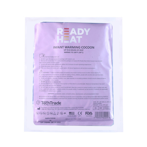 Ready-Heat Infant Warming Cocoon, Disposable, Blue, 26in x 26in