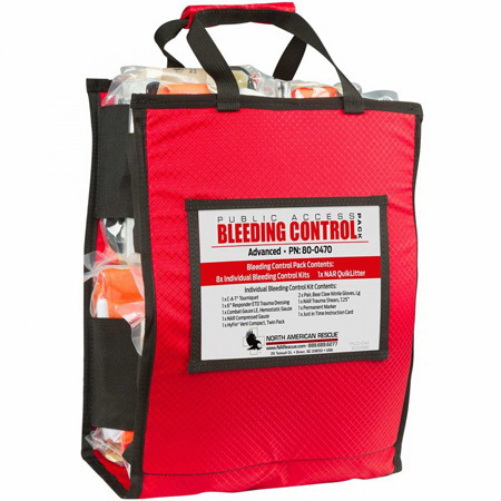 Public Access Bleeding Control Pack, Advanced, Vacuum Sealed
