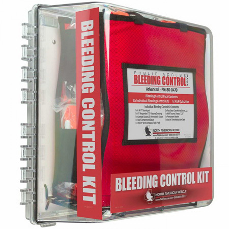 Public Access Bleeding Control Station, Advanced, Clear