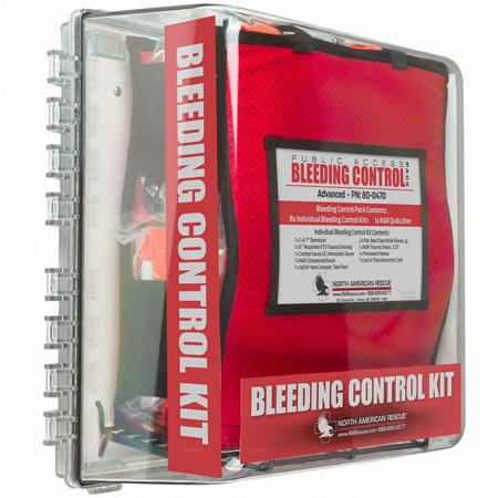 Public Access Bleeding Control Station, Advanced, Clear