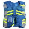 G3 Advanced Safety Vest, Fluorescent w/EMS Name Plate, Blue