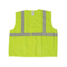 ANSI Class 2 Lime Green Mesh Safety Vest with Silver Stripes, Large/XL