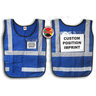 Window-Style Custom ICS Vest with Position Card, Blue