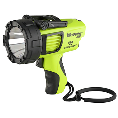 Waypoint® 300 Spotlight, Rechargeable, High Lumen, 120V AC, Yellow