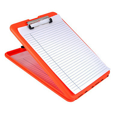 SlimMate Storage Clipboard, Letter/A4 Size, Bright Orange