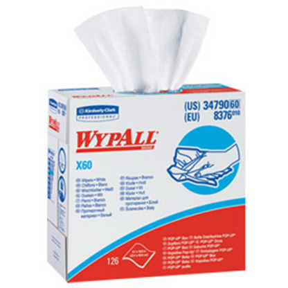 Wypall® Terry Wipers, 9.1in x 16.8in, White