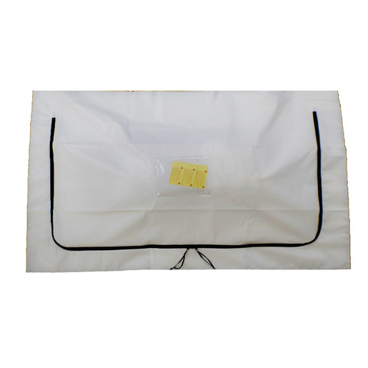 Standard Body Bag, PEVA, Chlorine free, White, Child/Pediatric *Non-Returnable and Non-Cancelable*