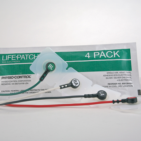 Life-Patch Pre-gelled ECG Electrodes, Adult