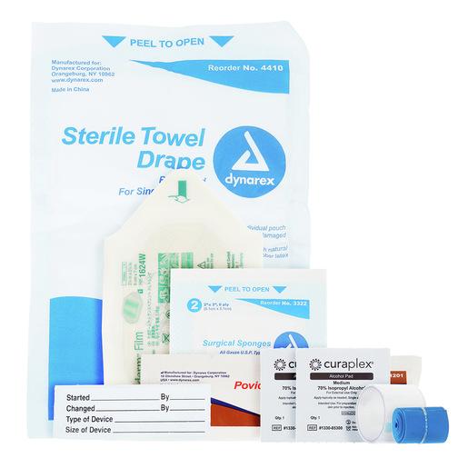 Curaplex® IV Start Kit w. Patient Label, Drape
