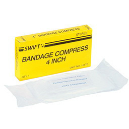 Compression Bandage, Sterile, White, 4in