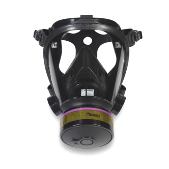 Tactical Gas Mask, Large, Face Piece Material Silicone, Suspension Mesh Harness *Non-Returnable*
