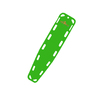 Base Board, Lime Green, Non-Standard Color, Without Pins
