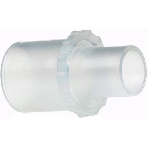 Neb Tee Valved Step Down Adapter, 22mm x 15mm OD