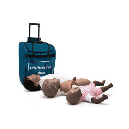 *Discontinued* CPR Little Anne® Training Manikins, Little Family Pack, Brown Skin