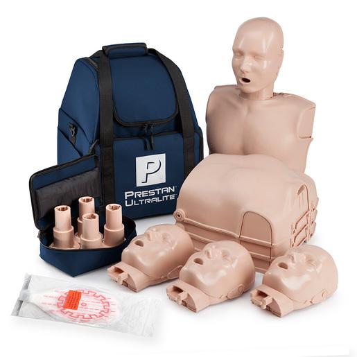 Prestan Ultralite Training Manikin, 4pk, w/ Stackable Torsos and Heads, Carrying Case