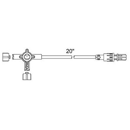 Medex™ 3-Way Standard Bore Extension Sets, 22in