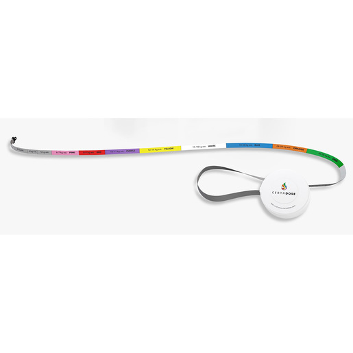 Certa Dose® Retractable Length-Based Resuscitation Tape