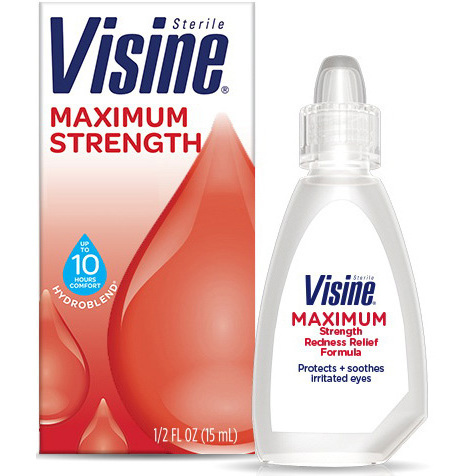 Visine® Maximum Redness Relief Eye Drops, 1/2oz