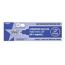 *Box Quantity* Atropine, 1mg, 10ml Luer Jet Prefilled Syringe
