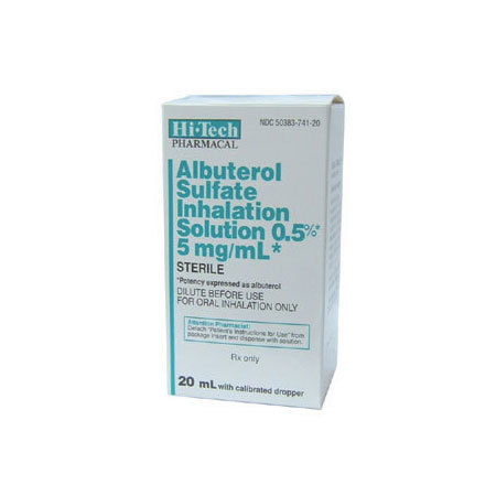 Albuterol, 100mg, 20ml Bottle