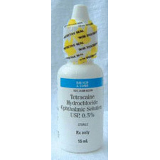 Tetracaine, 0.5%, 15ml Bottle
