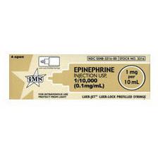 *Pack Quantity* Epinephrine, 1:10,000, 1mg, 10ml, Luer Jet Prefilled Syringe