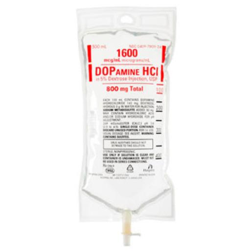 *Case Quantity* Dopamine / D5W, 800mg, 500ml Bag