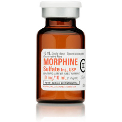 Morphine, Class II, 10mg, 10ml Vial *Non-Returnable and Non-Cancelable*