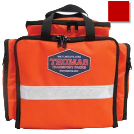 Emergency Responder EMT Pack, 11in x 12in x 5in, Red, Pocketed