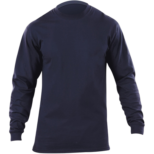 5.11 Men's Station Wear T-Shirts, Long Sleeve, Fire Navy