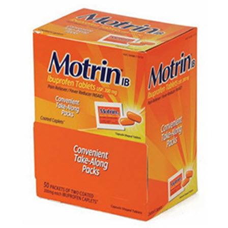 Motrin Tablets, 200mg, 50 Tablets