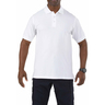 5.11® Men's Professional Short Sleeve Polo Shirt, Regular, White, 3XL