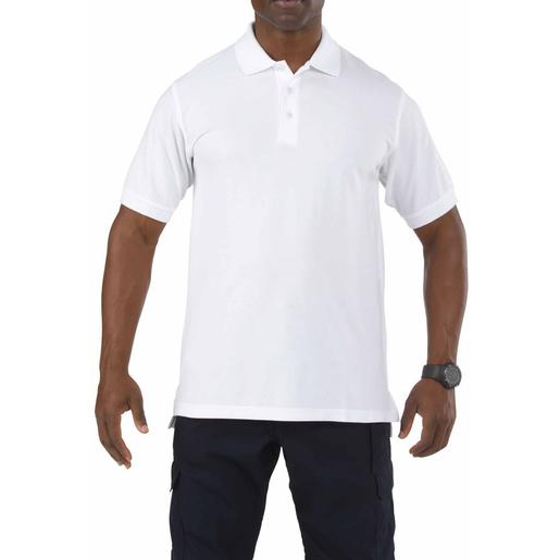 5.11 Men's Professional Short Sleeve Polo, White