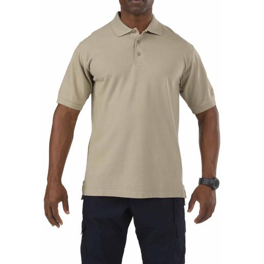 5.11® Men's Professional Short Sleeve Polo, Silver Tan