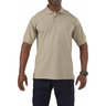 5.11® Men's Professional Short Sleeve Polo Shirt, Silver Tan, Small