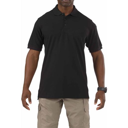 5.11 Utility Polo Shirt, Short Sleeve, Black, Unisex