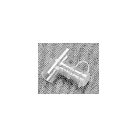 AirLife® Valved Tee Adapter, 22mm OD x 22mm OD