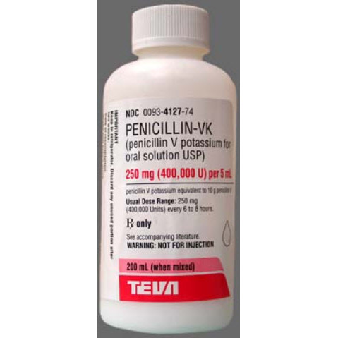 Penicillin VK Solution Powder, 250mg, 200mL
