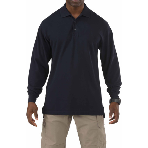 5.11 Men's Professional Polo Shirts, Long Sleeve, Dark Navy