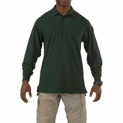 5.11 Men's Professional Long Sleeve Polo Shirt, LE Green