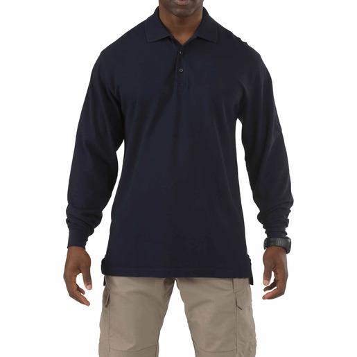5.11® Men's Professional Long Sleeve Polo Shirt, Dark Navy, Tall