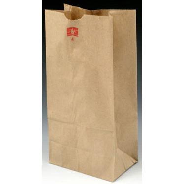 Kraft Paper Bag, Brown, 6in x 3-5/8in x 11-1/16in