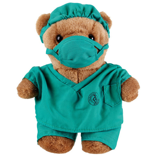 Dr. Scrubz Plush Bear, 10in