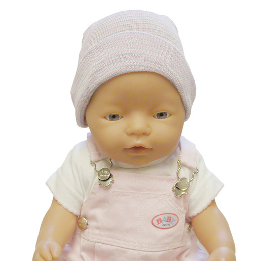 Infant Head Warmer, Knit, Pink and Blue Stripes